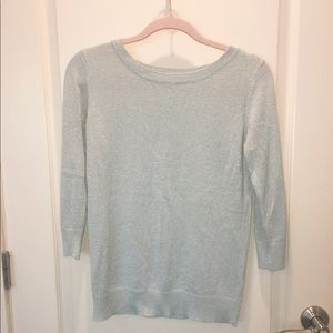 Joseph A teal shimmering sweater